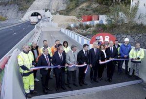 Vinci Escota inauguration du tunnel de la borne romaine